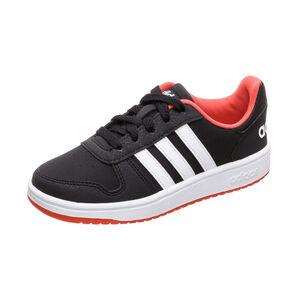 Hoops 2.0 Sneaker Kinder, schwarz / rot, zoom bei OUTFITTER Online