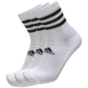 3-Stripes Cushioned Crew 3er-Pack Socken Herren, weiß / schwarz, zoom bei OUTFITTER Online