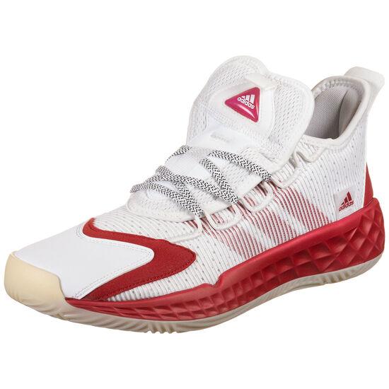 Pro Boost Basketballschuh Herren, weiß / rot, zoom bei OUTFITTER Online