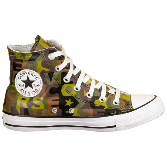 Chuck Taylor All Star High Sneaker, oliv / braun, zoom bei OUTFITTER Online