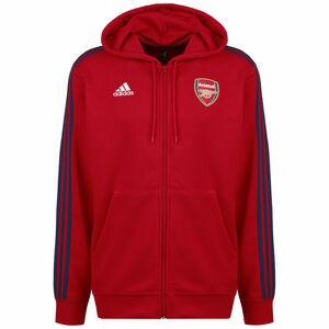 FC Arsenal 3-Streifen Kapuzenjacke Herren, rot, zoom bei OUTFITTER Online