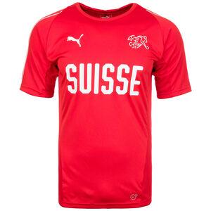 Schweiz Trainingsshirt WM 2018 Herren, Rot, zoom bei OUTFITTER Online