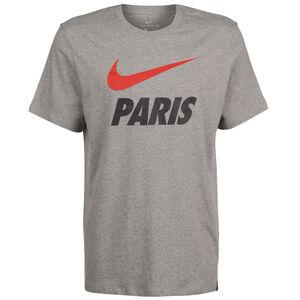 Paris St.-Germain Ground T-Shirt Herren, grau / rot, zoom bei OUTFITTER Online