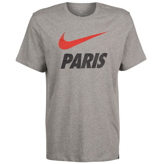 Paris St.-Germain Ground T-Shirt Herren, grau / rot, zoom bei OUTFITTER Online
