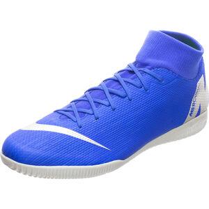 Mercurial SuperflyX VI Academy Indoor Fußballschuh Herren, blau / silber, zoom bei OUTFITTER Online