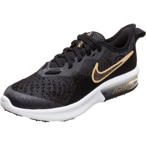 Air Max Sequent 4 Shield Sneaker Kinder, schwarz / gold, zoom bei OUTFITTER Online