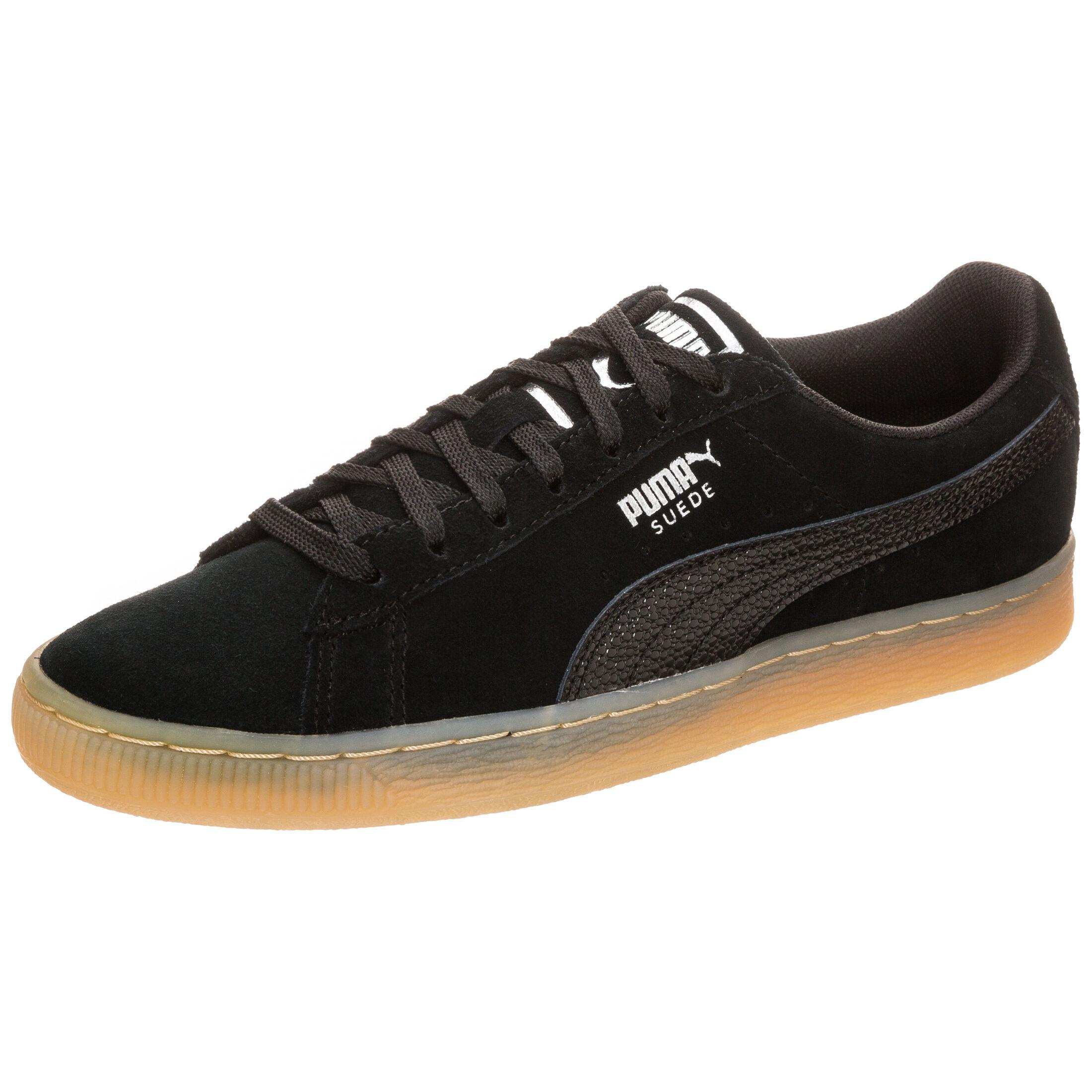 Puma Suede Classic Bubble Sneaker für Damen Schwarz