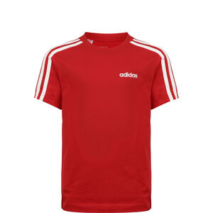 Essential 3 Stripes Trainingsshirt, rot / weiß, zoom bei OUTFITTER Online