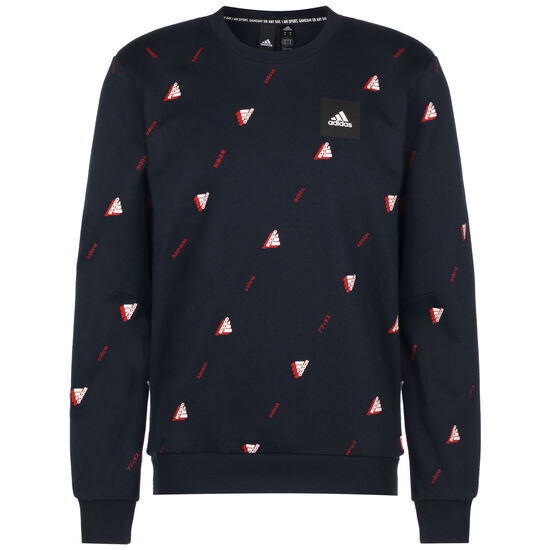 Must Haves Graphic Sweatshirt Herren, dunkelblau / rot, zoom bei OUTFITTER Online