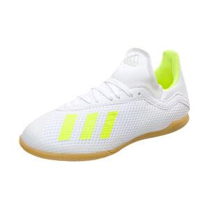 X 18.3 Indoor Fußballschuh Kinder, weiß / neongelb, zoom bei OUTFITTER Online