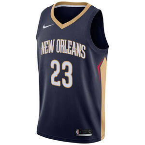 NBA New Orleans Pelicans #23 Davis Basketballtrikot Herren, dunkelblau / gold, zoom bei OUTFITTER Online