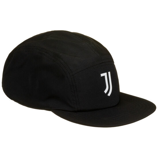 Juventus Turin Five-Panel Strapback Cap, schwarz / weiß, zoom bei OUTFITTER Online