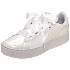 Vikky Platform Ribbon Patent Sneaker Damen, Weiß, zoom bei OUTFITTER Online