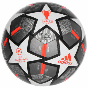 Finale 21 20th Anniversary UCL Textured Fußball, grau / weiß, zoom bei OUTFITTER Online