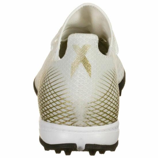 X Ghosted.3 TF Fußballschuh Herren, weiß / gold, zoom bei OUTFITTER Online