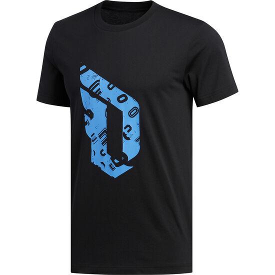 Dame Logo T-Shirt Herren, schwarz / hellblau, zoom bei OUTFITTER Online