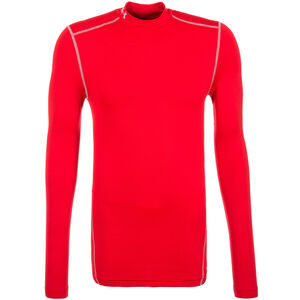 ColdGear Compression Mock Funktionsshirt Herren, Rot, zoom bei OUTFITTER Online