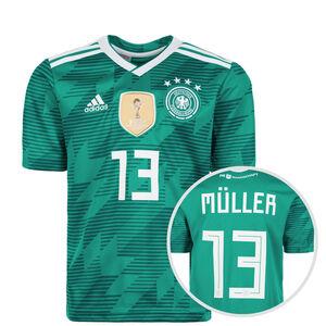 DFB Trikot Away Müller WM 2018 Kinder, Grün, zoom bei OUTFITTER Online