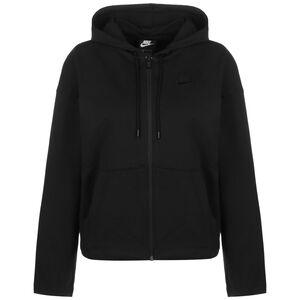 Sportswear Jersey Kapuzenjacke Damen, schwarz, zoom bei OUTFITTER Online