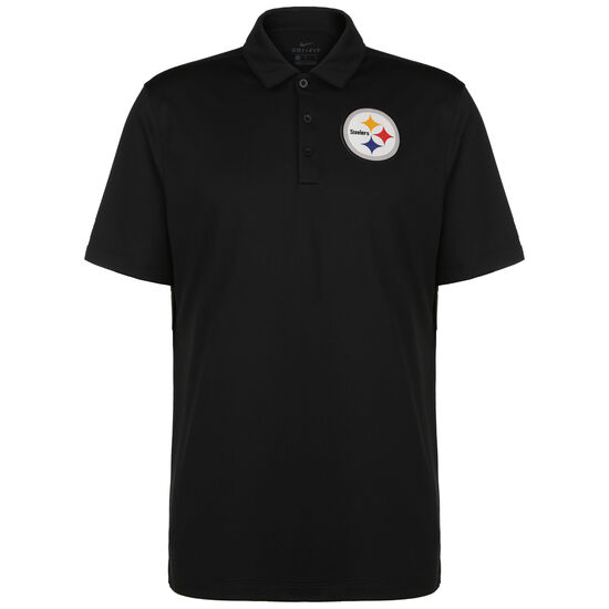 NFL Team Logo Pittsburgh Steelers Poloshirt, schwarz, zoom bei OUTFITTER Online
