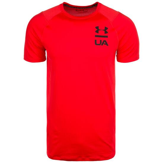 HeatGear MK-1 Logo Graphic Trainingsshirt Herren, rot, zoom bei OUTFITTER Online