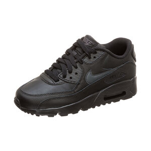 Air Max 90 Leather Sneaker Kinder, schwarz / grau, zoom bei OUTFITTER Online