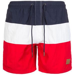 Color Block Swim Short Herren, rot / blau / weiß, zoom bei OUTFITTER Online