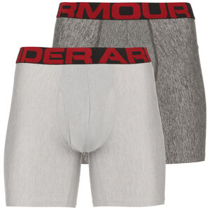 Tech Boxershorts 2er Pack Herren, grau / rot, zoom bei OUTFITTER Online