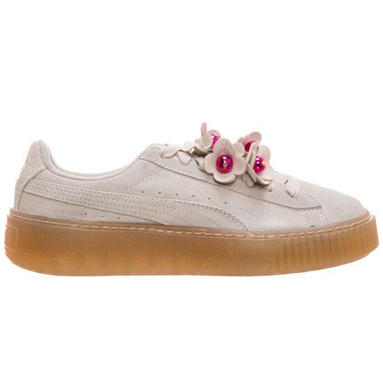 Suede Platform Flower Tassel Sneaker Damen, grau / violett, zoom bei OUTFITTER Online