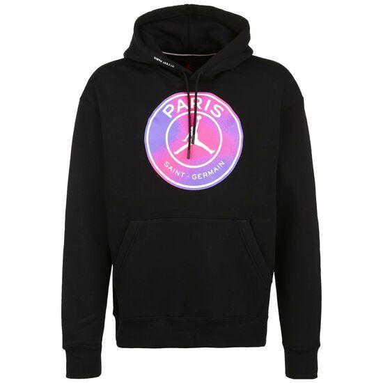 Paris St.-Germain Fleece Kapuzenpullover Herren, schwarz / pink, zoom bei OUTFITTER Online