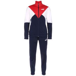 Retro Jogginganzug Herren, dunkelblau / rot, zoom bei OUTFITTER Online
