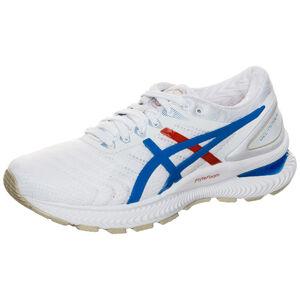 Gel-Nimbus 22 Laufschuh Damen, weiß / blau, zoom bei OUTFITTER Online