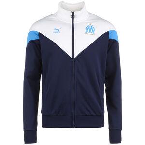 Olympique Marseille Iconic MCS Track Jacke Herren, dunkelblau / weiß, zoom bei OUTFITTER Online