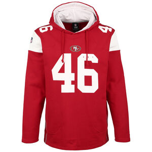 NFL San Francisco 49ers Iconic Franchise Kapuzenpullover Herren, rot / weiß, zoom bei OUTFITTER Online