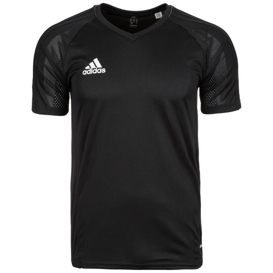 Tiro 17 Trainingsshirt Herren, schwarz / weiß, zoom bei OUTFITTER Online