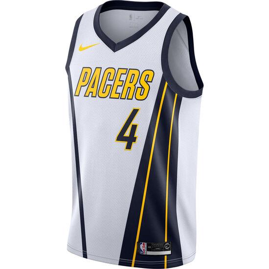 NBA Indiana Pacers #4 Oladipo Basketballtrikots Herren, weiß / blau, zoom bei OUTFITTER Online