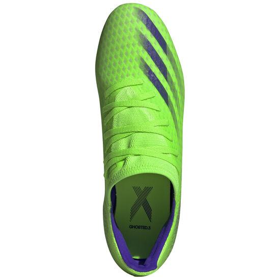 X Ghosted.3 FG Fußballschuh Herren, hellgrün / blau, zoom bei OUTFITTER Online