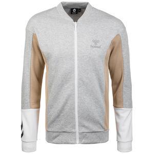 HMLCALEB Trainingsjacke Herren, grau / beige, zoom bei OUTFITTER Online