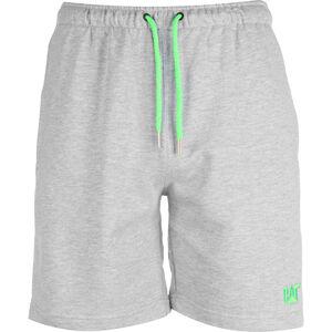 CAT Logo Sweat Short Herren, grau / neongrün, zoom bei OUTFITTER Online