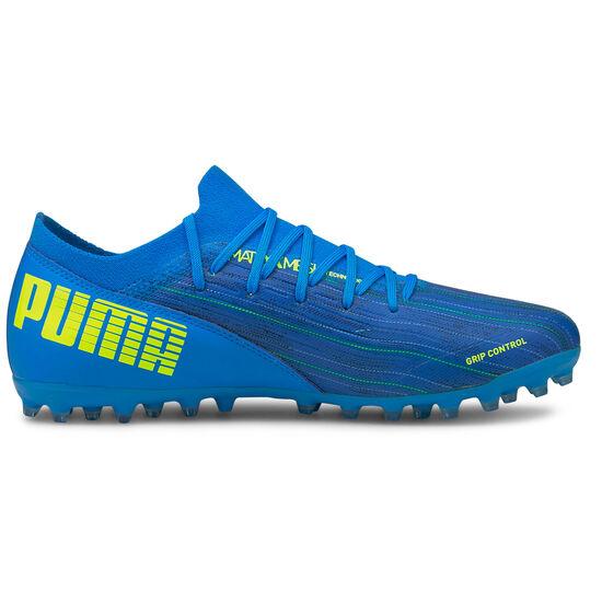 ULTRA 3.2 MG Fußballschuh Herren, blau / neongelb, zoom bei OUTFITTER Online