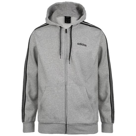 Essentials 3-Stripes Trainingsjacke Herren, grau / schwarz, zoom bei OUTFITTER Online