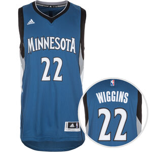 Minnesota Timberwolves Wiggins Swingman Basketballtrikot Herren, Blau, zoom bei OUTFITTER Online