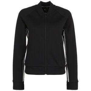 Must Haves 3-Streifen Trainingsjacke Damen, schwarz / weiß, zoom bei OUTFITTER Online