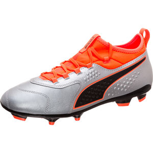 ONE 3 Leather AG Fußballschuh Herren, Silber, zoom bei OUTFITTER Online