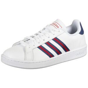 Grand Court Sneaker Herren, weiß / rot, zoom bei OUTFITTER Online