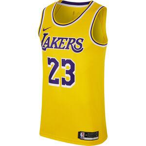 NBA Los Angeles Lakers #23 James Basketballtrikot Herren, gelb / lila, zoom bei OUTFITTER Online