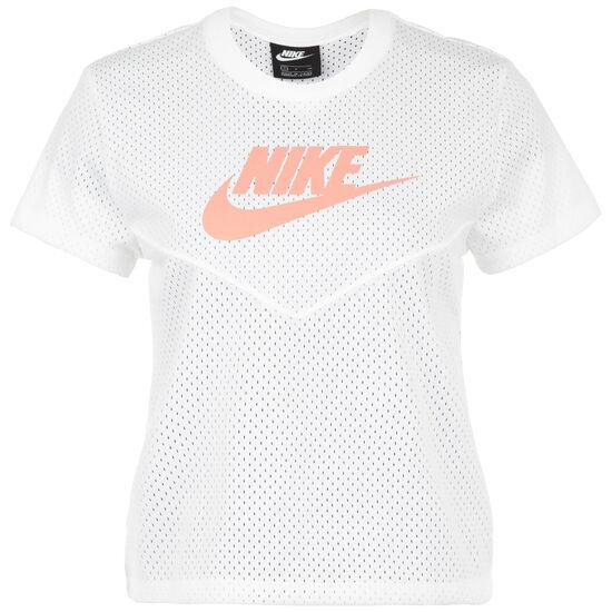 Heritage Mesh T-Shirt Damen, weiß / rosa, zoom bei OUTFITTER Online