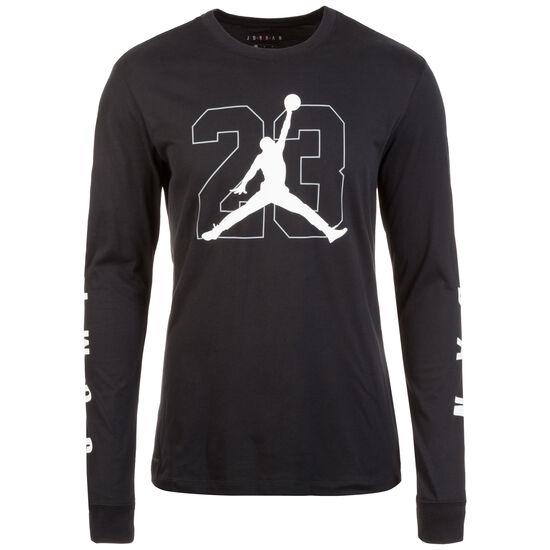 Graphic Basketball Longsleeve Herren, schwarz / weiß, zoom bei OUTFITTER Online