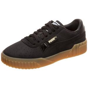 Cali Nubuck Sneaker Damen, schwarz / gold, zoom bei OUTFITTER Online