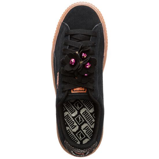 Suede Platform Flower Tassel Sneaker Damen, schwarz / grau, zoom bei OUTFITTER Online